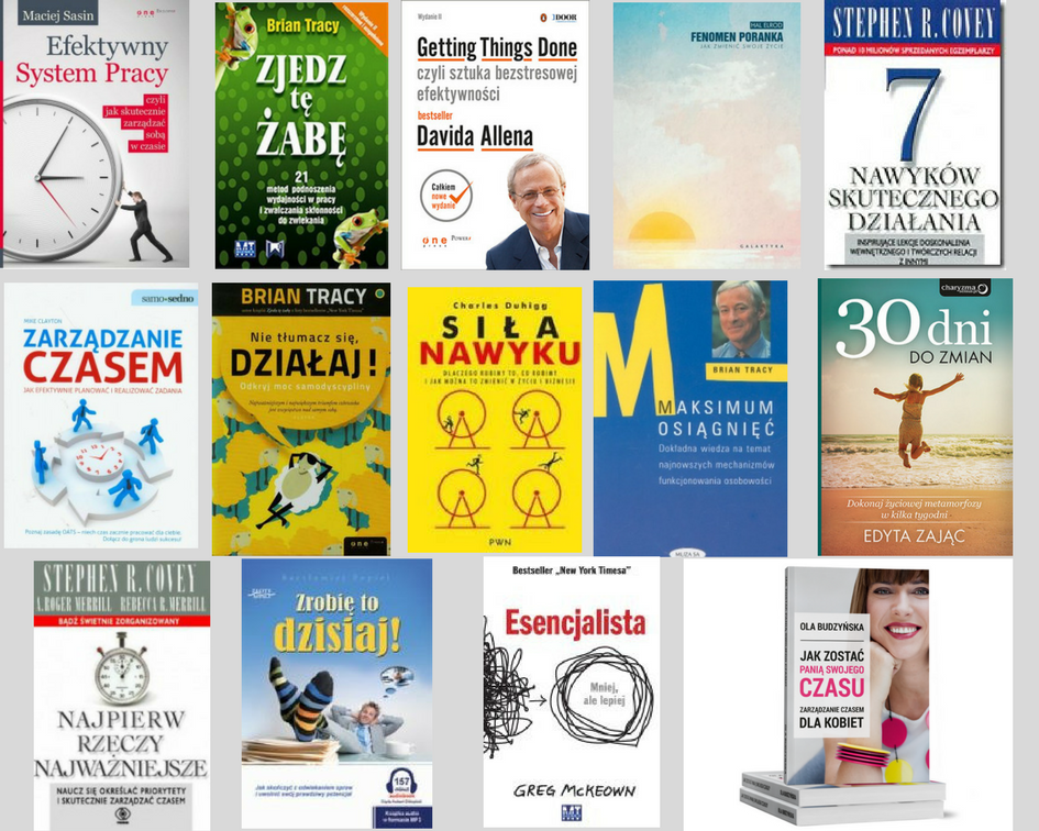 książki organizacja czasu